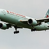 Air Canada AC861 B767-300 from London Heathrow LHR landing on runway 32