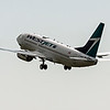 Westjet Airlines WS279 B737-700 to Toronto Pearson YYZ taking off runway 23