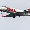 Jazz AC8863 CRJ-200 from Gander YQX landing on runway 32