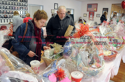 2/1/2014 Mike Orazzi | Staff  Dorothy Blum and her husband Richard Blum during the 11th Annual Valentine Chocolate Festival held at the Southington American Legion Saturday.