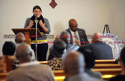 1/1/2014 Mike Orazzi | Staff New Britain Mayor Erin Stewart during the NAACP New Britain Branch's Emancipation Day Program held at the Second Baptist Church on Chapman Street on Wednesday morning.