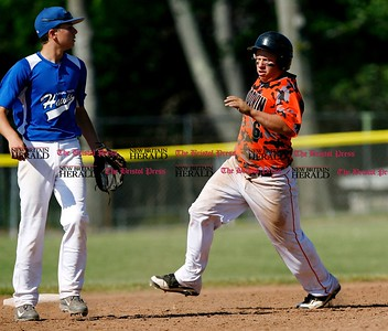 Kevin Bartram   Staff Goodwin's Dade Grajewski comes into second during a First round of Class M State Tournament game between Goodwin Tech and Vinal Tech on Monday at Goodwin Tech in New Britain.