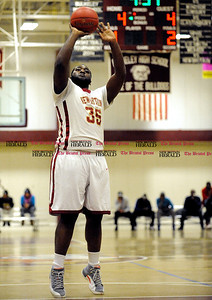3/1/2014 Mike Orazzi | Staff New Britain's Craven Johnson (35) during the CCC Boys Basketball Tournament at Bulkeley High School Saturday night in Hartford.
