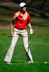 5/1/2014 Mike Orazzi | StaffBerlin High School's Julia Kemmling during Thursday's match with Conard High School at the Timberlin Golf Club.