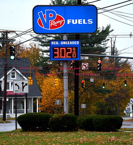 11/1/2014 Mike Orazzi | Staff Regular gas for $3.02 per gallon at the VP Racing Fuels station on Route 10 in Plainville on Saturday.