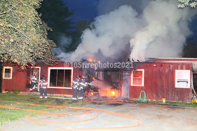 West Bridgewater FF's arrived at this single family home just after 4:30 am and found heavy fire from a breezeway and kitchen. Two lines were stretched to knock down the fire. West Bridgewater Engines 1 and 2 along with Easton Engine 2 responded while Bridgewater covered the station.