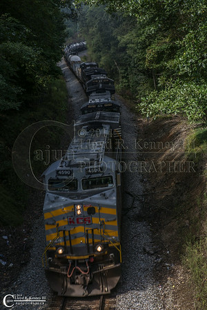 The Evening Train Rolling Through Dade County Georgia