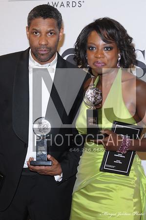 Denzel Washington - Best Actor and Viola Davis - Best Actress  2010 Tony Awards Winners,  Radio City Music Hall New York, NY  USA Margot Jordan Photo - All Rights Reserved