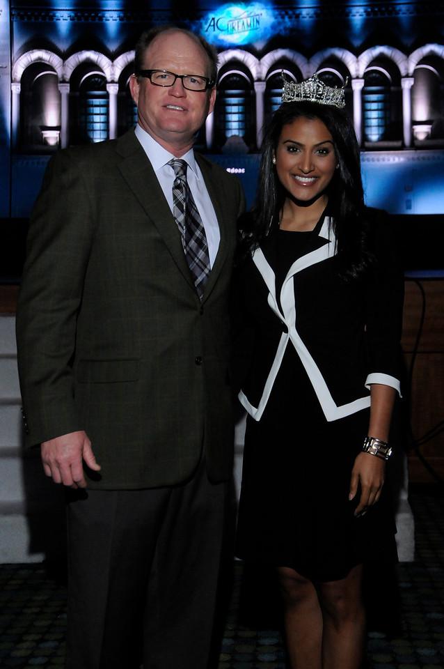 L-R  Chris Shepler 2014 MarketPlace Charir & Nina Davuluri Miss America 2014