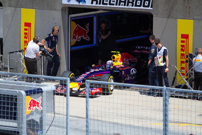 A Day before his 1st ever win - Ricciardo