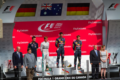 2014 Montreal GP 1st 2nd and 3rd