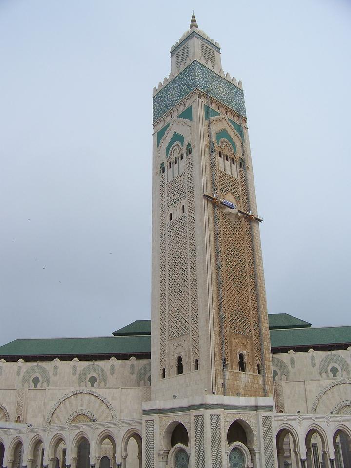 0006 - Hassan II Mosque 60 story Minaret - Casablanca Morocco.JPG