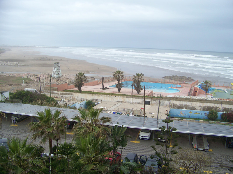 0002 - View of Beach and Atlantic Ocean from Room at Le Grand Bleu Val D Anfa Hotel - Casablanca Morocco.JPG