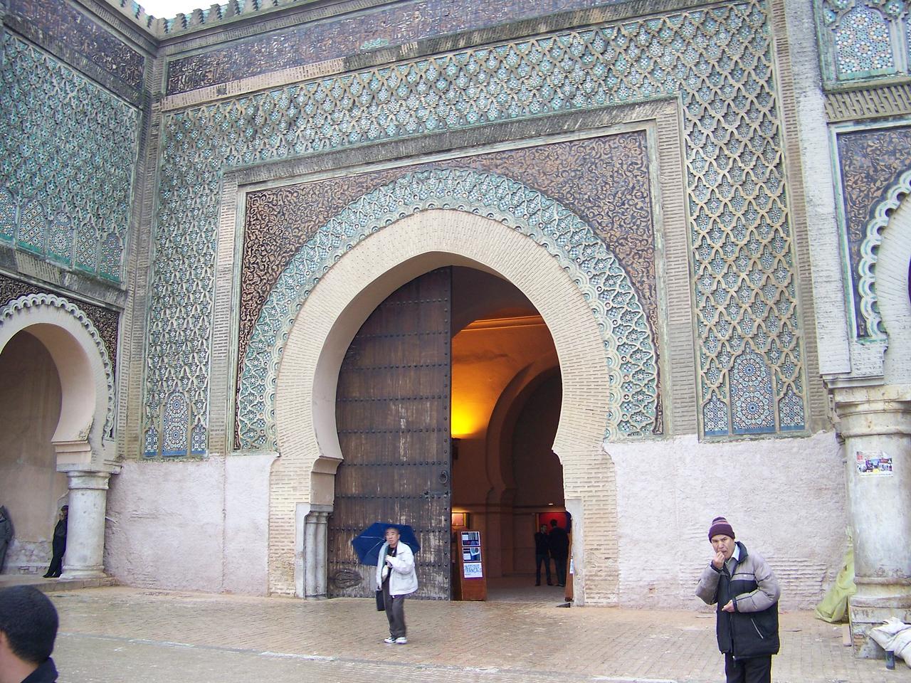 0037 - Bab Mansour El Alj Gate - Southern Gate of the Medina - Meknes Morocco.JPG