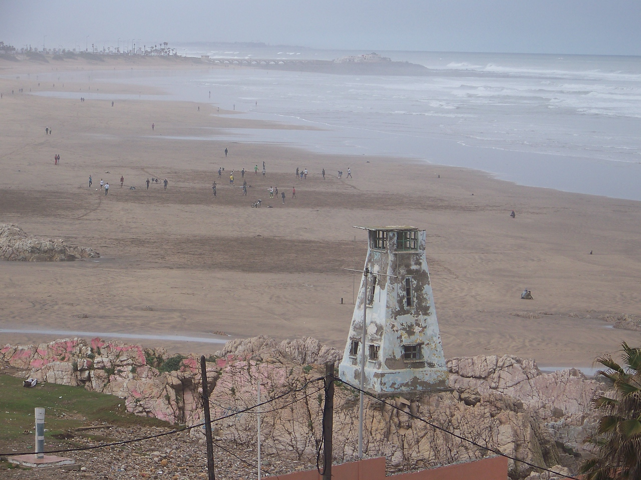 0005 - View of Beach and Atlantic Ocean from Room at Le Grand Bleu Val D Anfa Hotel - Casablanca Morocco.JPG