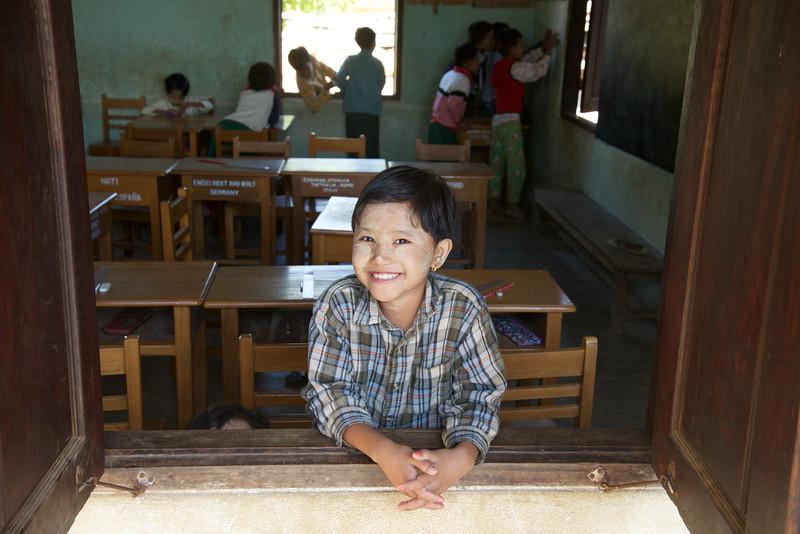 Schoolgirl near Bagan