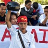 Student protest near Inwa, Myanmar