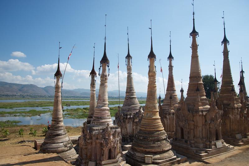 Stupas overlooking Sankar