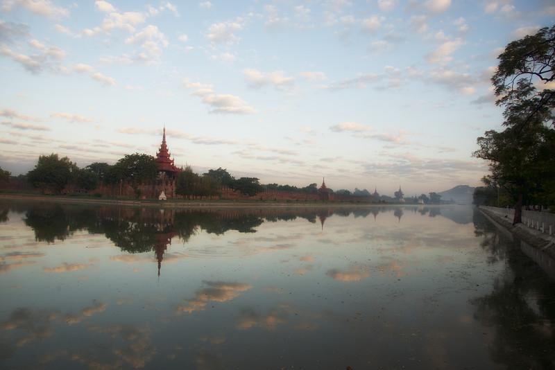 Sunrise at Mandalay Palace