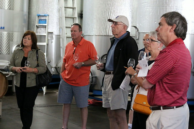 Our group enjoyed a nice visit with Jesse Lange's assistant winemaker Neil Larson in the winery.