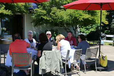 Lange has a great spot just outside their tasting room for a sip, lunch, and wonderful view.