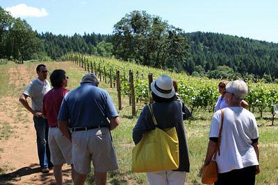 Mark Bosko shared the Alexana story with out group. You learn about wine in the vineyard!