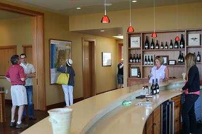 Our second stop on the first day was just up the road from Lange at Alexana Winery 's beautiful tasting room.