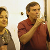 The Fitzpatricks enjoying a sip of PInot!