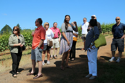 Our Oregon wine tour started with a walk through the vineyards at Lange Estate Winery with the wonderful Monique.