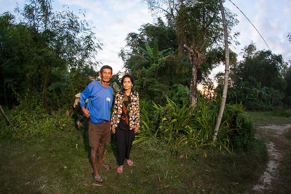 Linda & Husband on their front yard, Tarlac