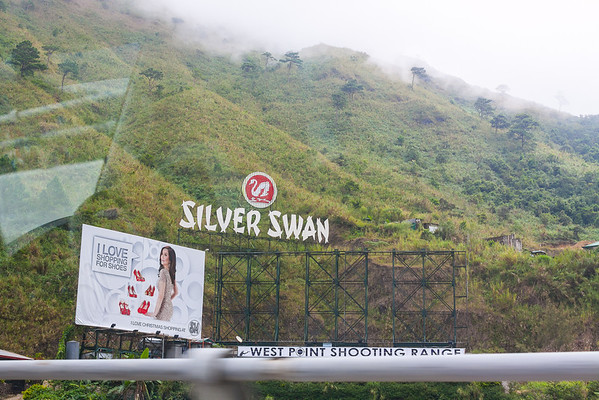 3D signs on the road going to Baguio