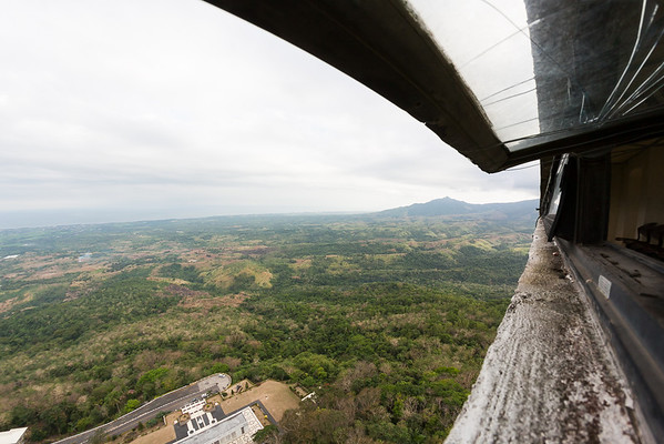 View from a wing of the cross atop Mount Samat