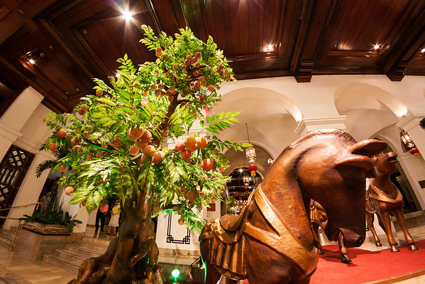 Manila Hotel Year of the Horse lobby display