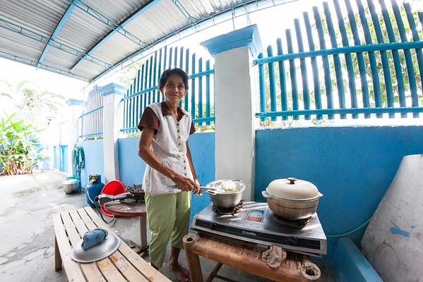 Linda cooking rice
