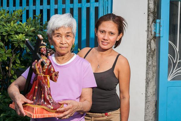 Nanay & Jane with the Black Nazarene