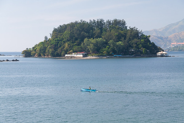 Isla Pequena with Paradise Island behind it, Subic Bay
