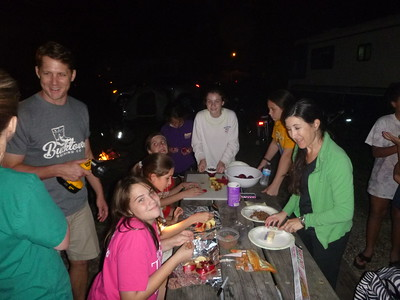 2014-10-18 7th gr Girl Scout - Camp out
