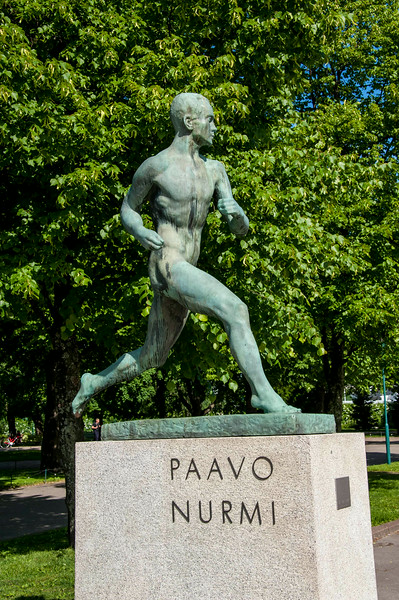 """77 Nurmi- a Finnish middle-and long-distance runner,  nicknamed the """"Flying Finn""""  22 world records  Nine gold and three silver medals the Olympic Games"""