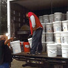 Sending flood buckets to storm victims in Mexico - November 2013