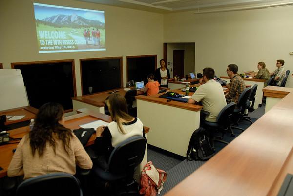 RESESS orientation at UNAVCO in Boulder, Colorado on May 19, 2014. (Photo/Beth Bartel)