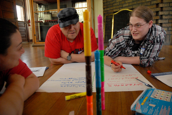 RESESS, SOARS, and NEON leadership training at Chautauqua in Boulder, Colorado on Tuesday, May 20, 2014. (Photo/Beth Bartel)