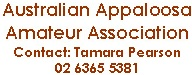 Australian Appaloosa Amateur Association