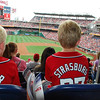 Tace and Cail at Washington Nationals game - summer of 2014.