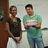 Aisha's birthday cake surprise by the RESESS interns.