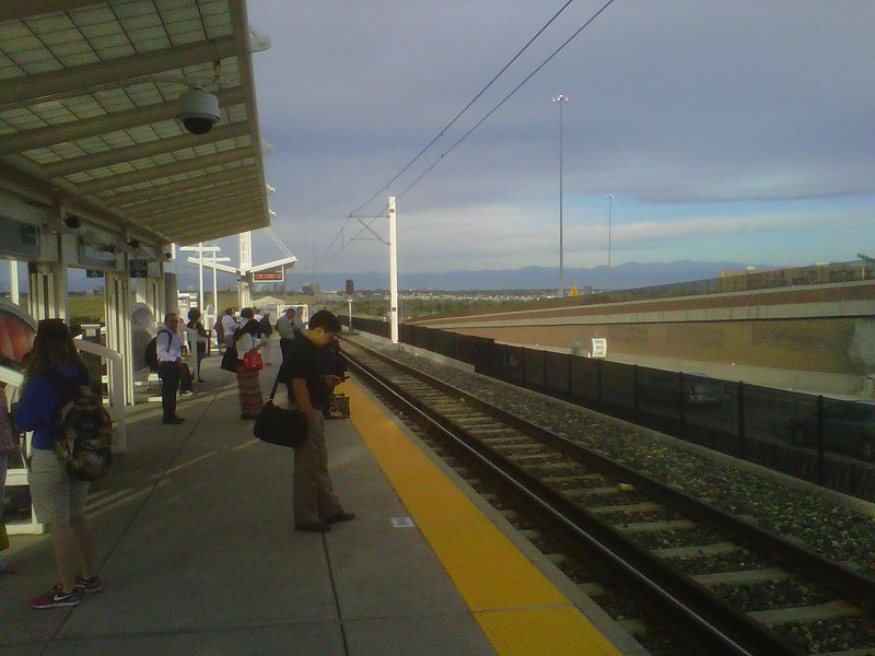 Monday Morning- waiting for the 7:20am train out of Nine Mile Station in Aurora, CO
