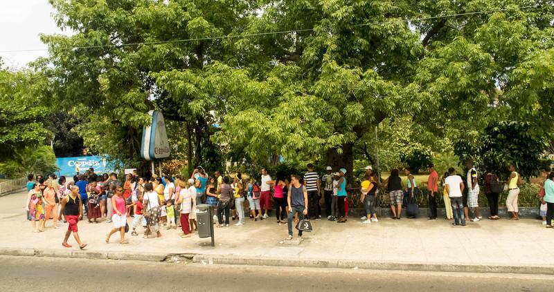 012 The most popular ice cream store in Havana   always a line