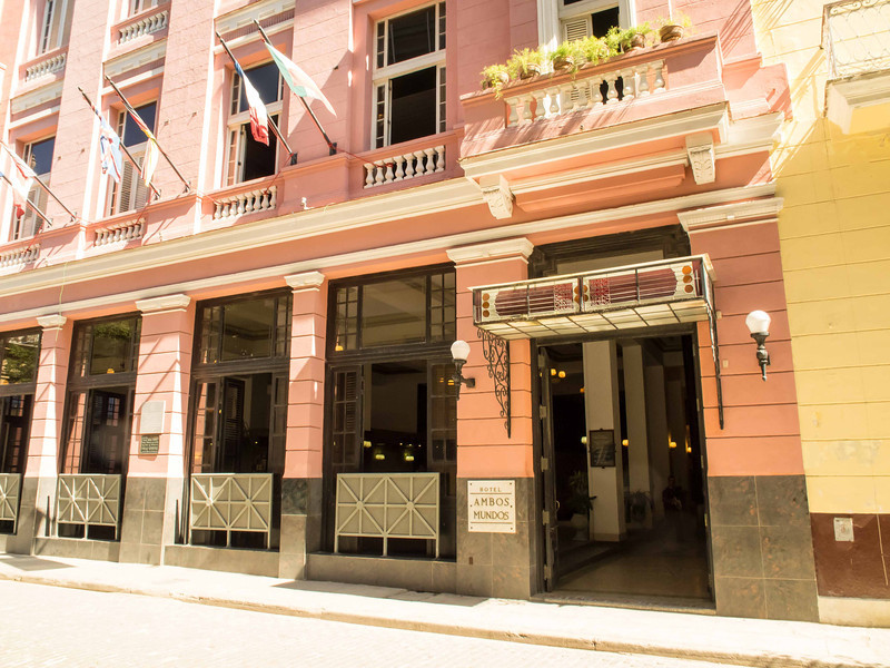 """111 Hotel Ambos Mundos where Hemingway stayed (room 511) for 7 years in the 1930's and wrote several books, including """"For Whom The Bell Tolls"""""""
