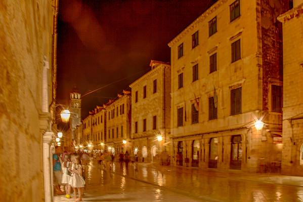 Dubrovnik Night Scene