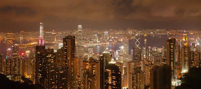 Hong Kong at Night ~ from Victoria Peak