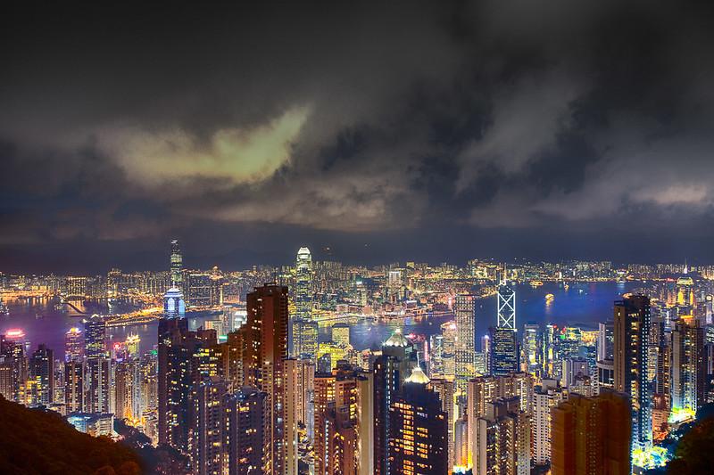 Hong Kong at Night ~ from Victoria Peak #2